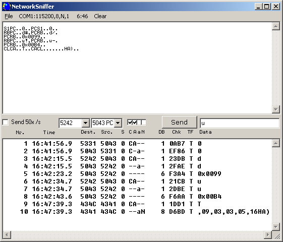 Networksniffer Screenshot