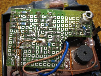 Back of the dcf clock's pcb
